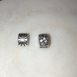 Pandora Sterling Silver Clip Spacers